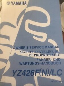 Yamaha YZ426F(N)/LC Owners Service Manual