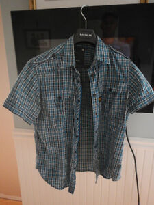 chemise manche courte g-star et abercrombie and fitch
