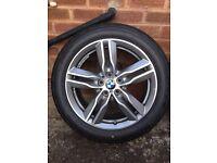 Original BMW X1 2016 M Sport Alloy Wheels with Bridgestone Tyres