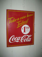 Coca-Cola Framed Advertising Sign