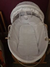 moses basket, stand and mattress if needed