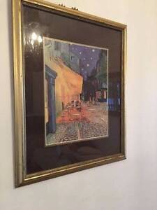 Gold Framed, Glassed Print - Van Gogh Café Terrace at Night Stafford Heights Brisbane North West Preview