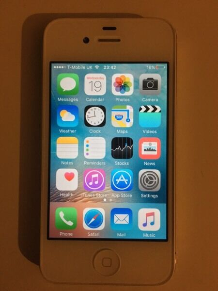 iPhone 4S 16GB white EE network good condition fully working