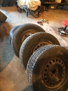 235/65R17 BF winter slalom tires on rims