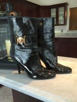 Gucci Hysteria Heeled Calf Booties