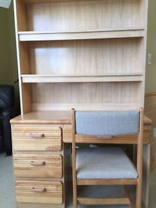Child's bedroom set.  Solid birch drawer fronts and headboard.  Strathcona County Edmonton Area image 7