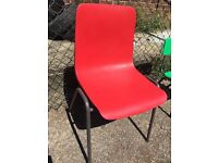 Red Stacking School Chair