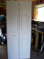 6 panel white Bifold Door