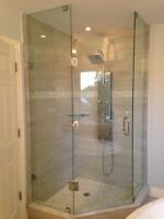 Frameless Shower Glass Doors Enclosures bathtubs - Mirrors etc.