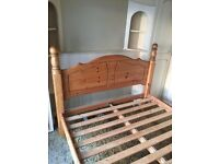 Solid wood double bed - excellent condition to collect from Derby
