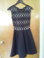 Finn & Clover Black and Beige Dress (Small) $10.00