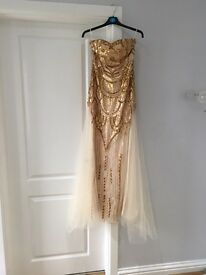 Gold long deco dress