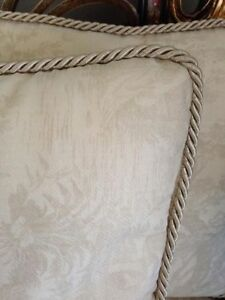 PILLOWS (ORGANZA COVERING and SILK CORD TRIM) - LIKE NEW!!