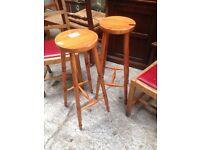 Pine stools x2