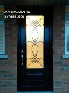 Entry Entrance Iron Front Glass Door  Best Pricing and Service