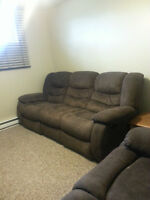 Suede Couch, Love Seat, Chair Combo