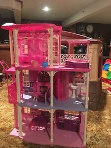 Barbie doll house 4 ft tall  great deal $100
