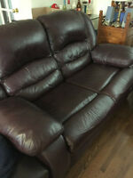 Reclining 2-seater Leather Couch