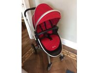 Silver Cross Surf Pram, Chilli Red, with accessories