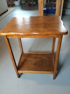 Antique end table.  Maple i think.