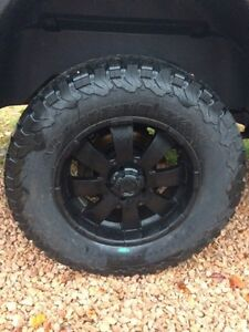"20"" Dodge Ram wheels 5x5.5 with  brand new 35"" BFG AT"
