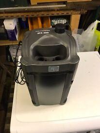 External filter for tank