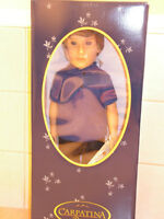 "18"" boy doll Carter by Carpatina, AG size, NRFB"