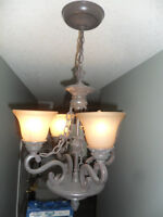 2 Matching Lights, 1 chandelier, 1 ceiling