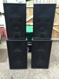 FBT Verve 152 and 12 speakers - amazing pa set up