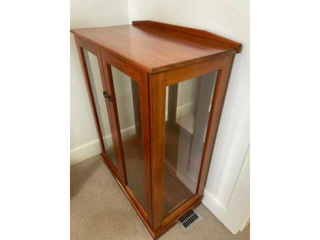 2 Door Rosewood Display Cabinet