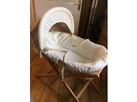 Moses basket and frame mamas and papas