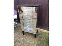 Mirrored drawer unit bling chest