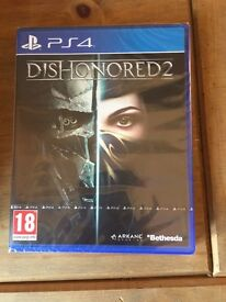 Ps4 dishonoured 2-brand new still sealed