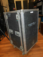 CUSTOM 18U SHOCKMOUNT RACK CASE WITH CASTERS - 18SPACE RACK