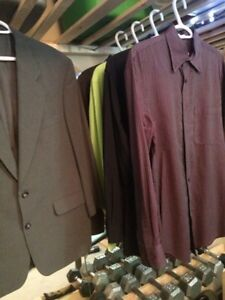 Mens Brand Name Button Up Shirts & Suit Jacket Mediums