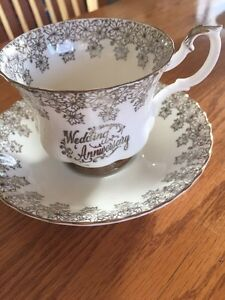 Royal Albert silver wedding anniversary china tea cup and saucer