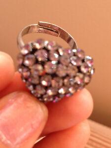 Swarovski Rhinestone adjustable heart shape ring