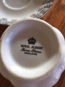 Royal Albert silver wedding anniversary china tea cup and saucer Windsor Region Ontario image 3