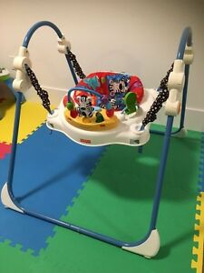Fisher Price bouncer exersaucer with light and music $30