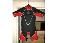 VARIOUS SIZE AND MAKES OF WETSUITS AND DINGHY FROM £5.00