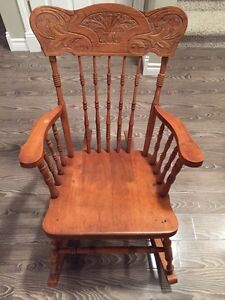 REDUCED TO SELL!! - Antique Oak Rocking Chair