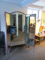 PRICE REDUCED! Three panel free standing mirror