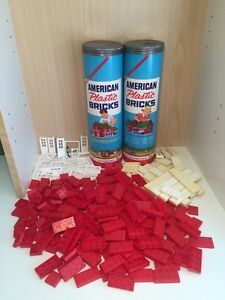 Two Canisters of Vintage 1950 American Plastic Bricks (Lego)