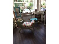 Vintage Retro telephone table ' statement piece 'individually made'