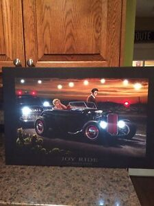 Awesome Flashing LED lighted Elvis & Marilyn Monroe in Joy Ride