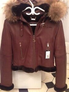 Womans/Ladys Leather Winter Coat