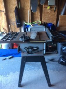 Craftsman 10 inch table saw with stand