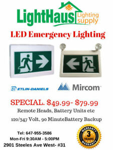 LED Exit Sign* LED Running Man Combo Exit Light