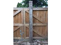 Natural Oak timber sleeper. 2.4m Unused. Clean timber. Garden borders. Garden Feature. Vegetable