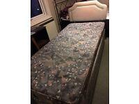 Silent night mattress and divan base with storage
